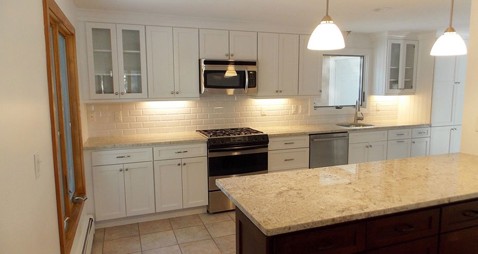 Fieldstone Kitchen Remodel | White Wood Kitchen