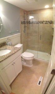 Cape Cod Bathroom Remodel White Wood Kitchens